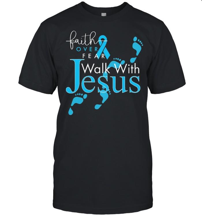 Faith over fear walk with jesus diabetes shirt Classic Men's T-shirt