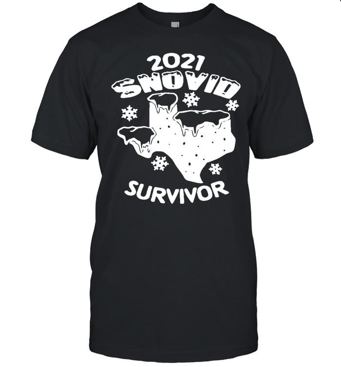Snovid 2021 Texas survived shirt Classic Men's T-shirt