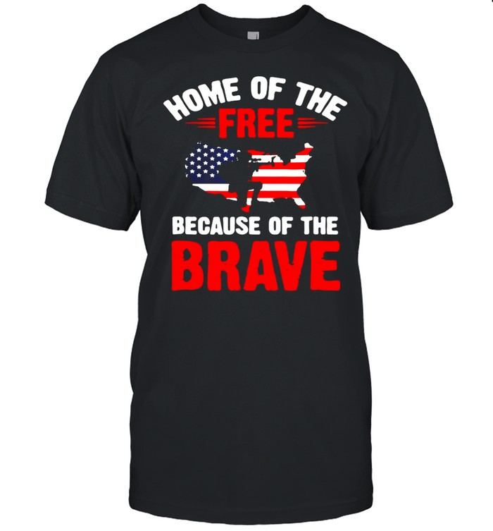 American Flag Home Of The Free Because Of The Brave 4Th July Army T-shirt Classic Men's T-shirt