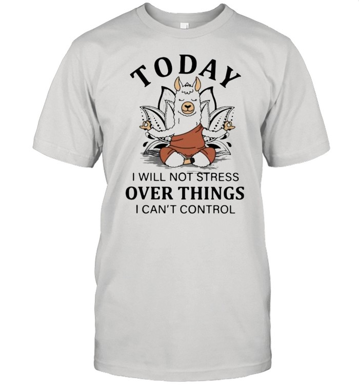 Today I Will Not Stress Over Things I Can't Control Goat shirt Classic Men's T-shirt