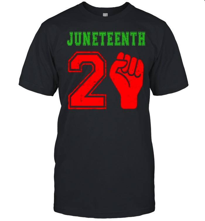 Juneteenth 2021 Black African American Freedom June 19 T- Classic Men's T-shirt