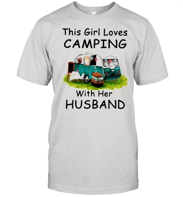 This Girl Loves Camping With Her Husband shirt Classic Men's T-shirt