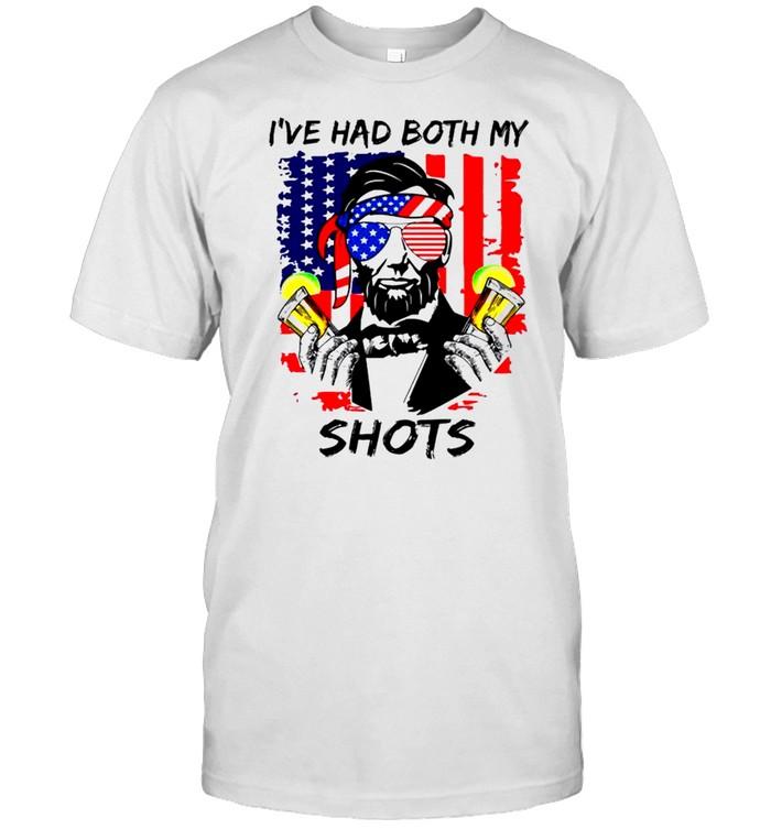 Abraham Lincoln I've had both my shots 4th of july shirt Classic Men's T-shirt