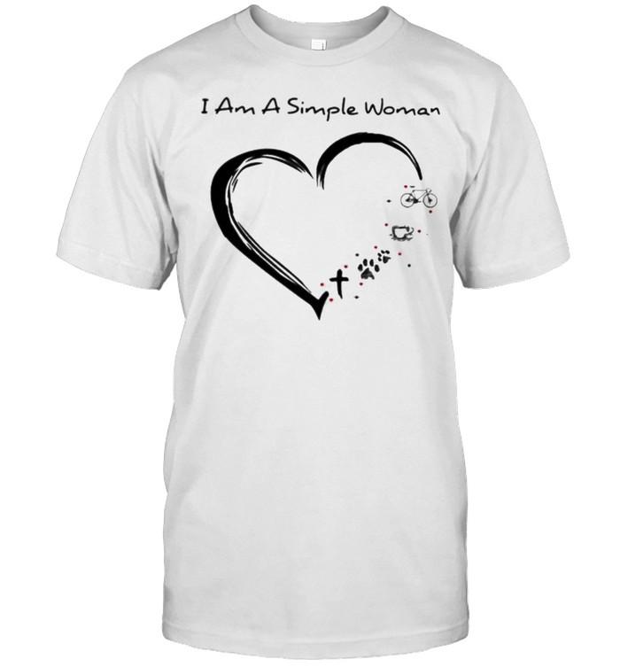 I am a simple cross dog coffee cyclingshirt Classic Men's T-shirt