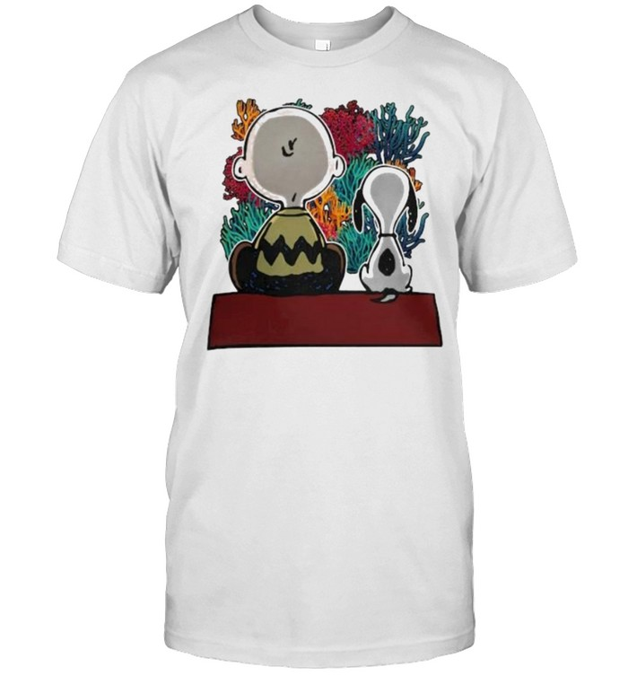 Snoopy And Friend See Ocean  Classic Men's T-shirt