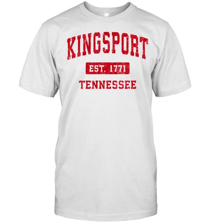 Kingsport Tennessee TN Vintage Sports Design Red Design shirt Classic Men's T-shirt