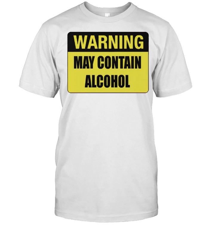 Warning may contain alcohol shirt Classic Men's T-shirt