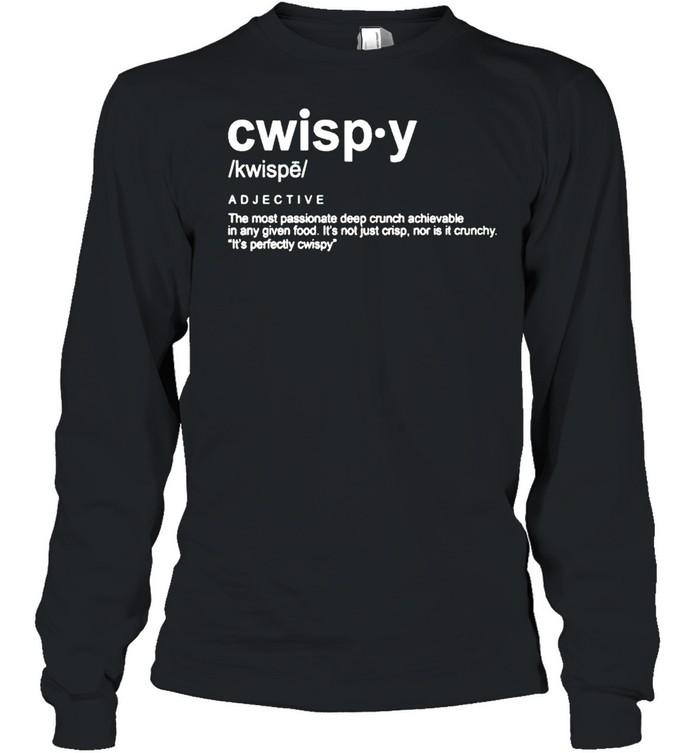 Joshua Weissman Cwispy the most passionate deep crunch shirt Long Sleeved T-shirt