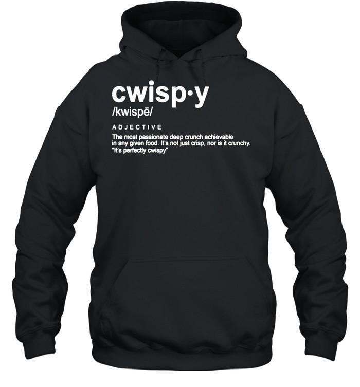 Joshua Weissman Cwispy the most passionate deep crunch shirt Unisex Hoodie