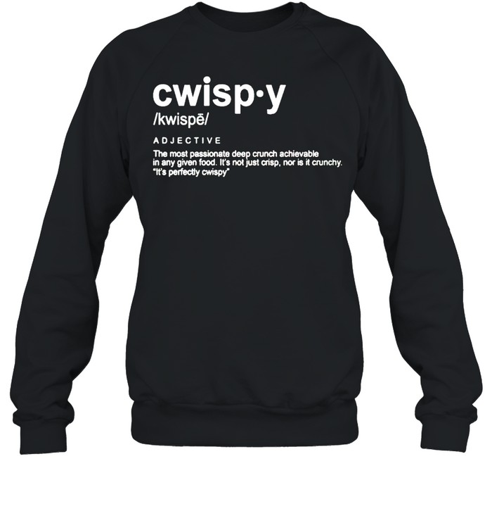 Joshua Weissman Cwispy the most passionate deep crunch shirt Unisex Sweatshirt