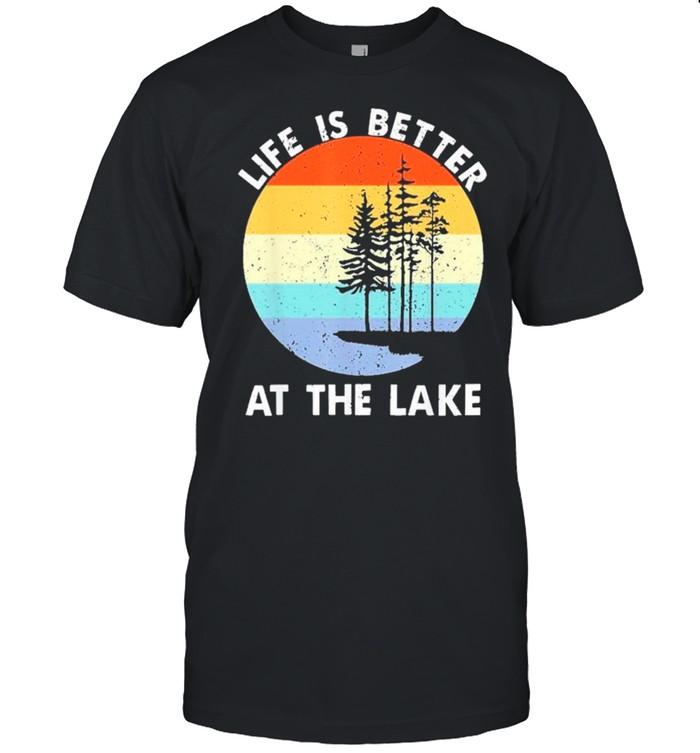 life is better at the lake vintage lake life shirt Classic Men's T-shirt