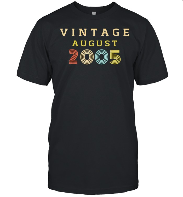 15 Year Old Birthday Vintage 2005 August Classic shirt Classic Men's T-shirt