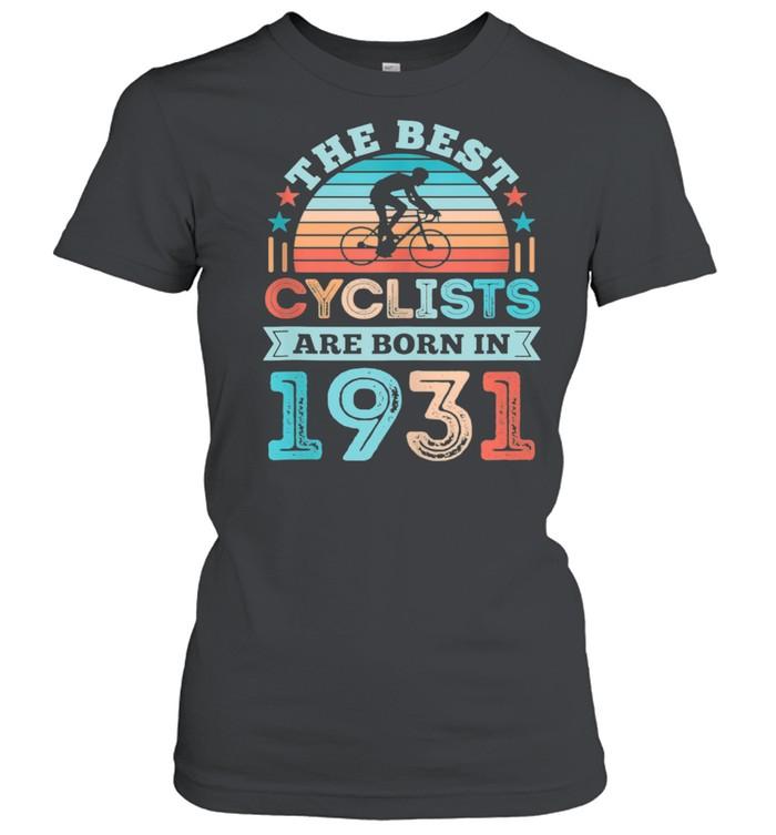 90th Birthday Cycling Best Cyclist born 1931 shirt Classic Women's T-shirt