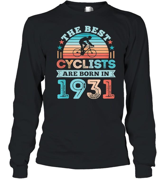 90th Birthday Cycling Best Cyclist born 1931 shirt Long Sleeved T-shirt