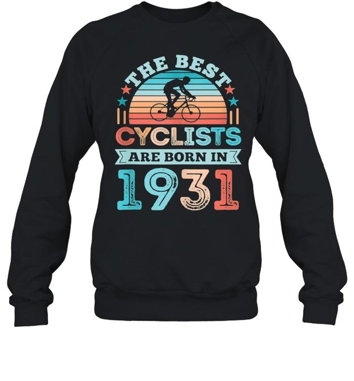 90th Birthday Cycling Best Cyclist born 1931 shirt Unisex Sweatshirt