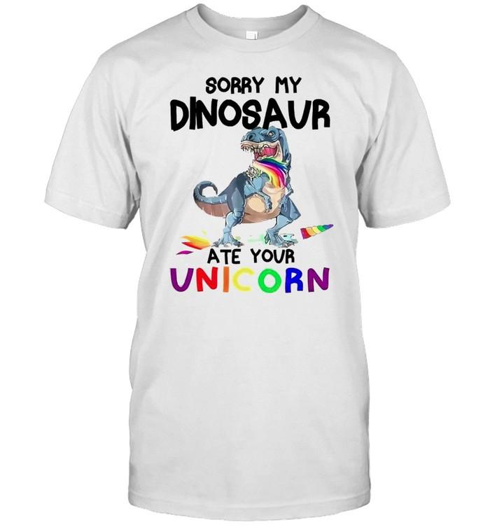 Sorry my dinosaur ate your unicorn shirt Classic Men's T-shirt