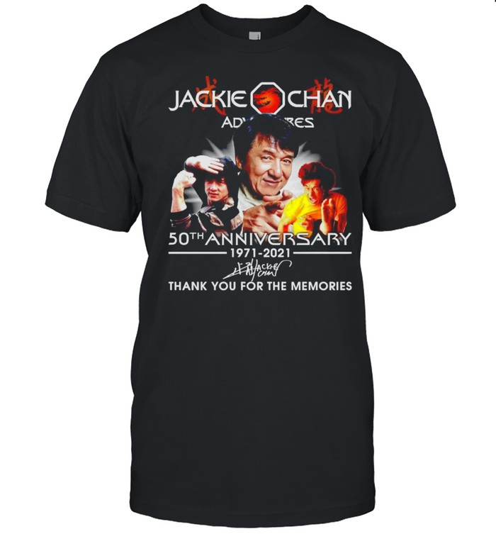 Jackie Chan 50th Anniversary 1971 2021 thank you for the memories shirt Classic Men's T-shirt