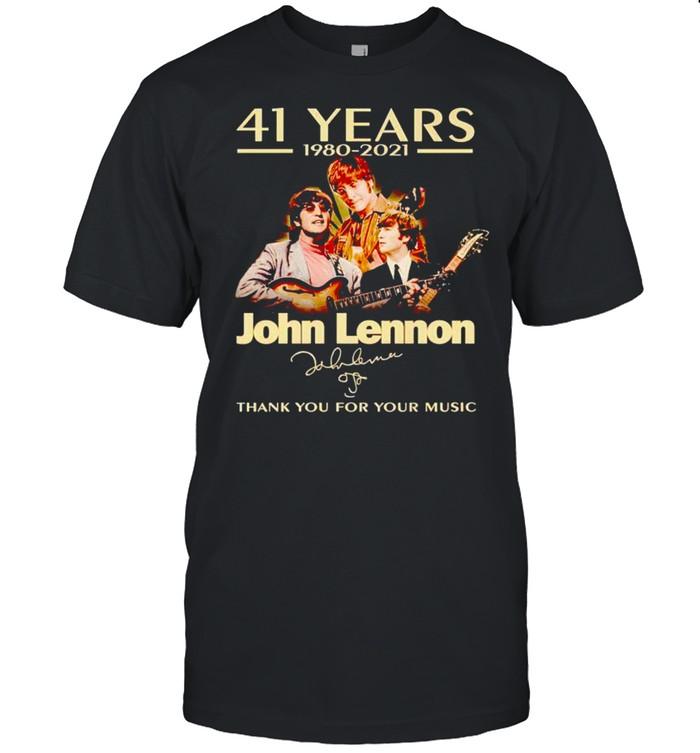 41 years John Lennon 1980 2021 thank you for your music shirt Classic Men's T-shirt