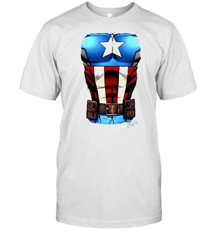 Captain America Chest flag shirt Classic Men's T-shirt