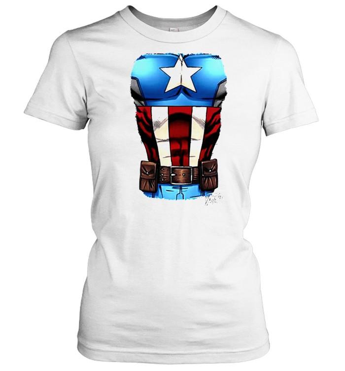 Captain America Chest flag shirt Classic Women's T-shirt