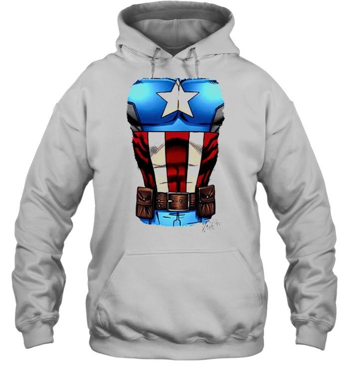 Captain America Chest flag shirt Unisex Hoodie
