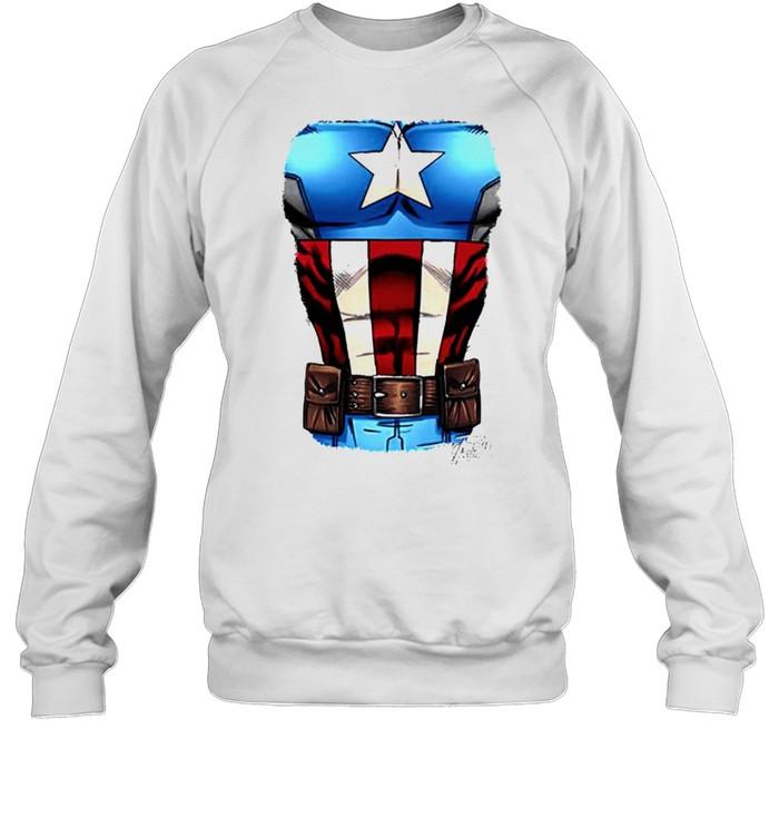 Captain America Chest flag shirt Unisex Sweatshirt