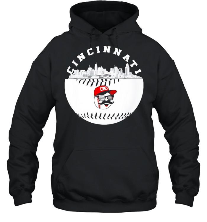 cincinnati baseball fans retro red color shirt Unisex Hoodie