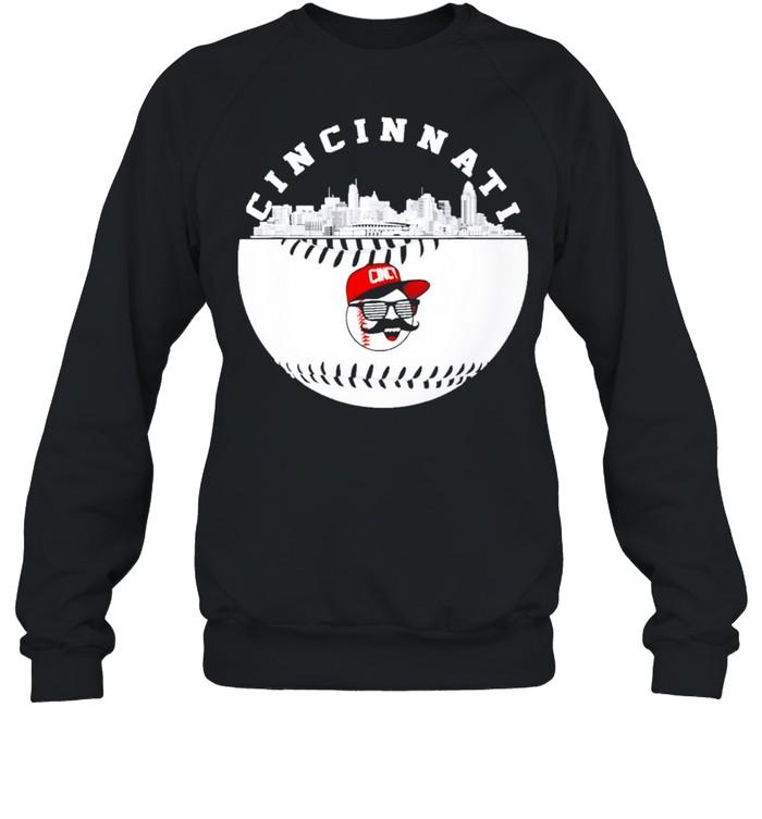cincinnati baseball fans retro red color shirt Unisex Sweatshirt