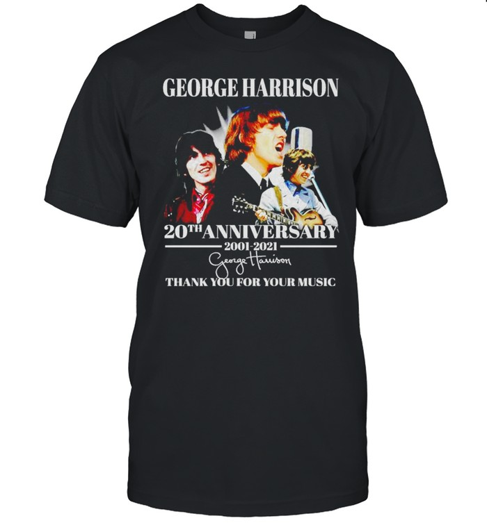 George Harrison 20th Anniversary 2001 2021 thank you for your music shirt Classic Men's T-shirt