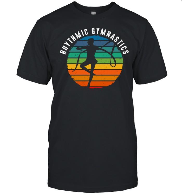 Vintage Rhythmic Gymnastics Clothing Sunset Gymnastics shirt Classic Men's T-shirt
