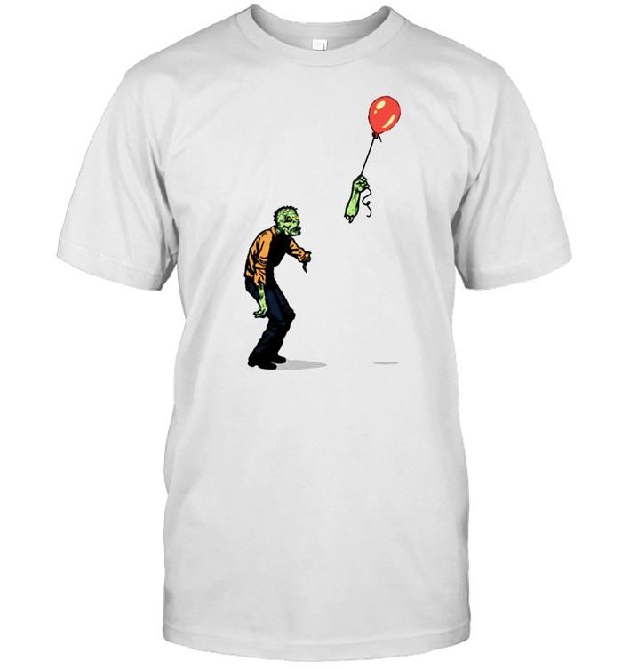 Zombie amputated hand holding balloon shirt Classic Men's T-shirt