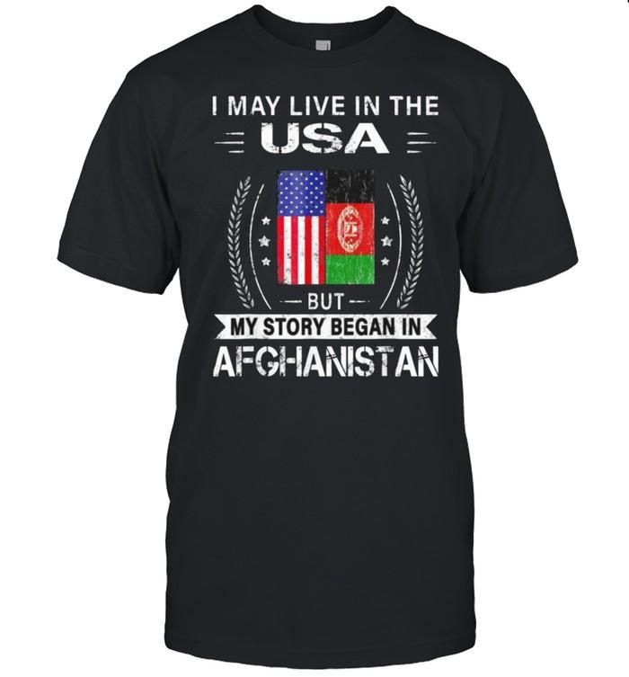 American Afghanistan Flag – My Story Began In Afghanistan Tee  Classic Men's T-shirt