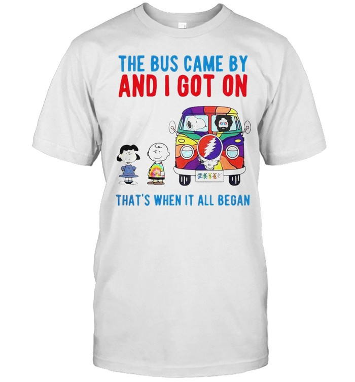 Peanuts Grateful Dead the bus came by and I got on shirt Classic Men's T-shirt