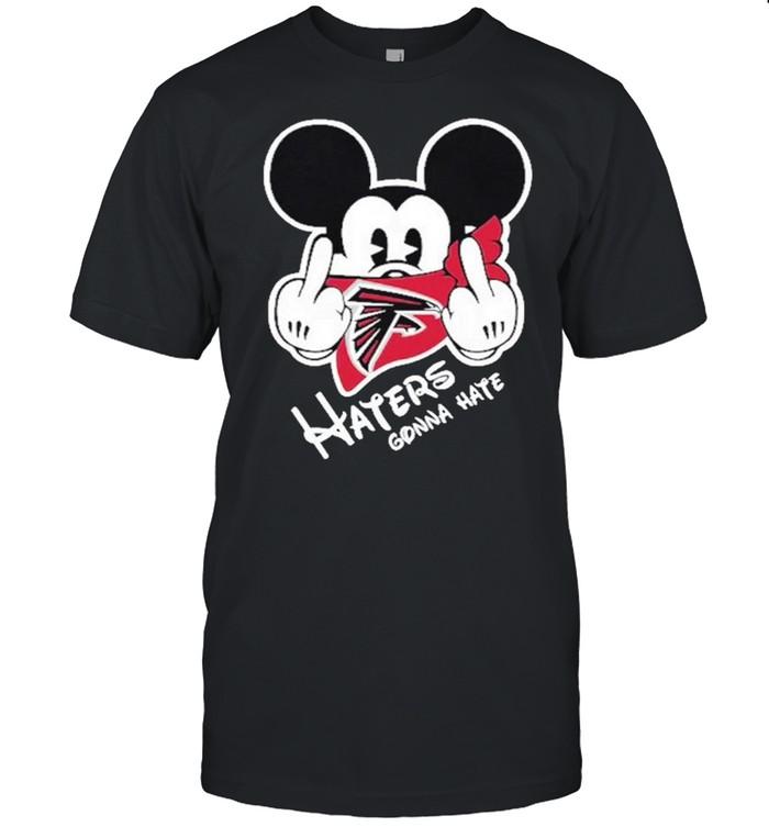 Mickey haters gonna atlanta american football team shirt Classic Men's T-shirt