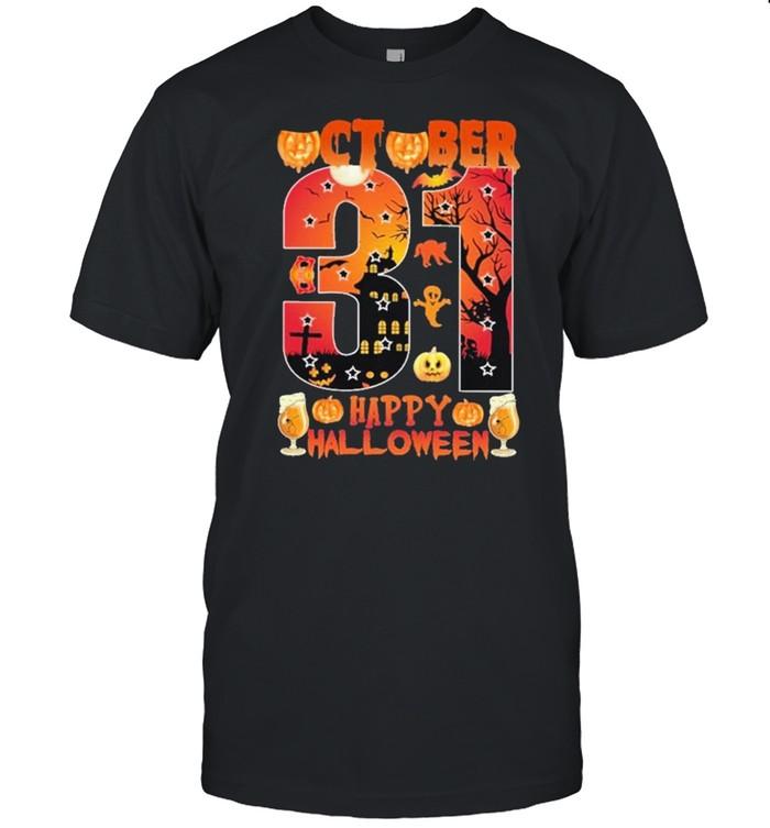 October 31 Happy Halloween  Classic Men's T-shirt
