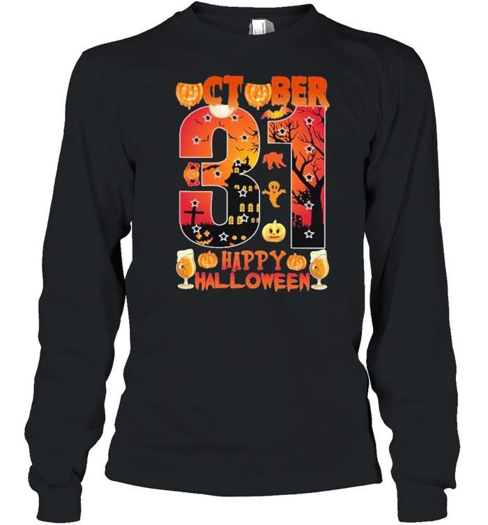 October 31 Happy Halloween Long Sleeved T-shirt