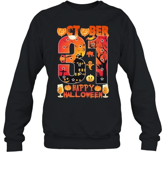 October 31 Happy Halloween Unisex Sweatshirt