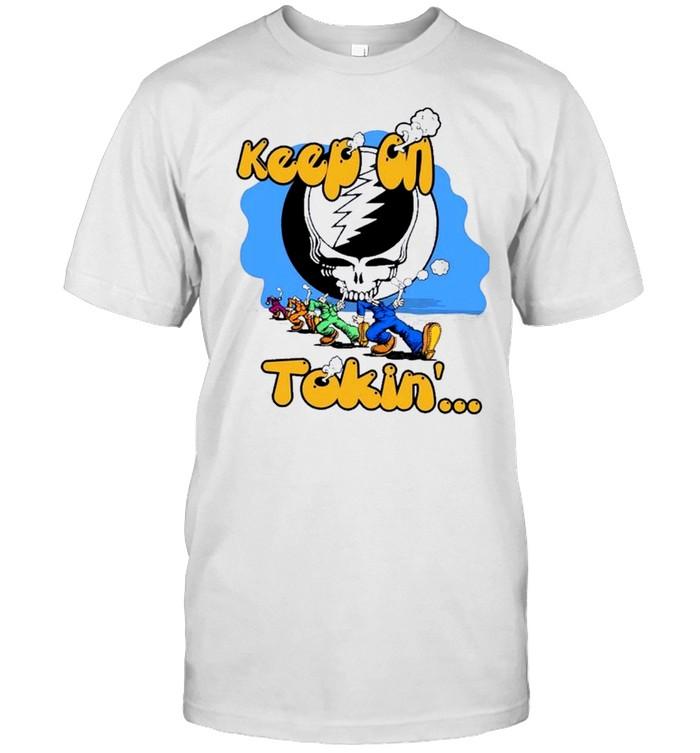 Skull keep an tokin shirt Classic Men's T-shirt