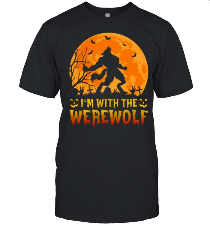 Wolf I'm with the werewolf shirt Classic Men's T-shirt