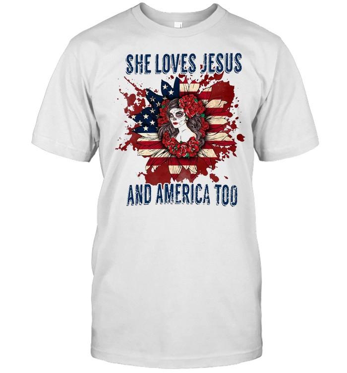 Flower Girl She Loves Jesus And America Too T-shirt Classic Men's T-shirt