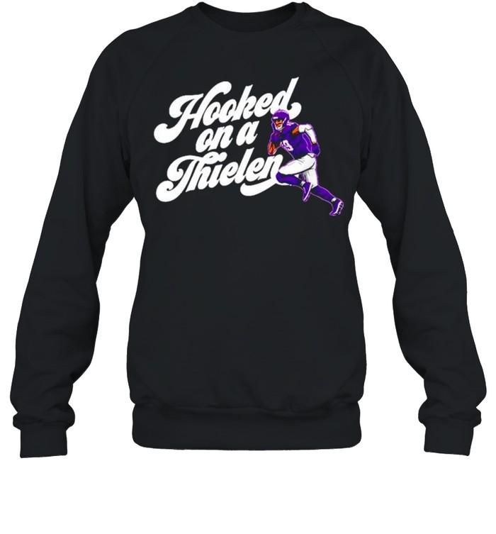 Adam Thielen Hooked On A Thielen Minnesota Vikings shirt Unisex Sweatshirt