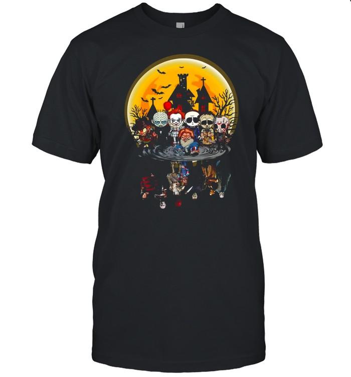 Horror Character Mirror Water Halloween Shirt