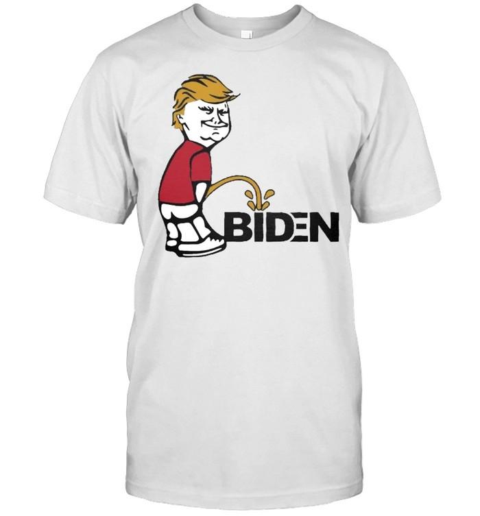 Trump pee on Biden shirt