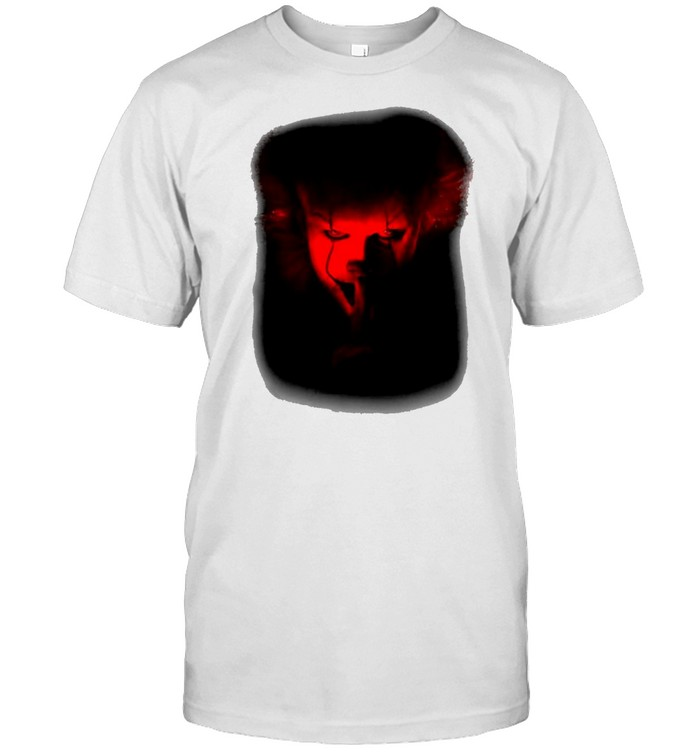 It Movie Pennywise Shh Red Hue Portrait T-shirt