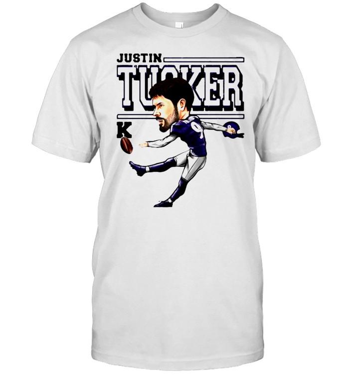 Justin Tucker Baltimore Ravens Cartoon shirt