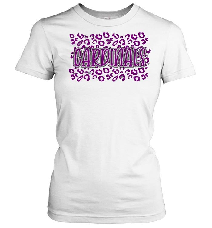 leopard School Spirit Mascot Cardinals shirt Classic Women's T-shirt