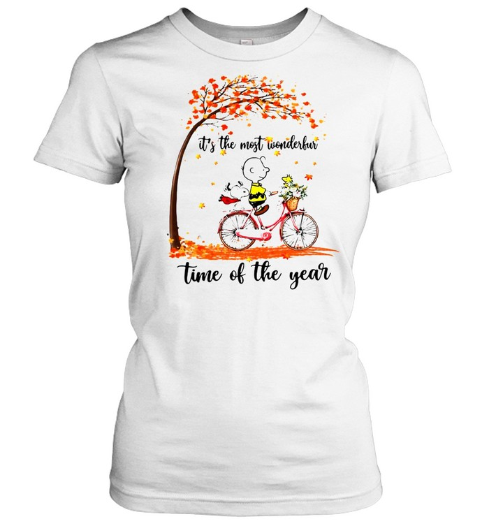 Snoopy And Peanuts It's The Most Wonderful Time Of The Year T-shirt Classic Women's T-shirt