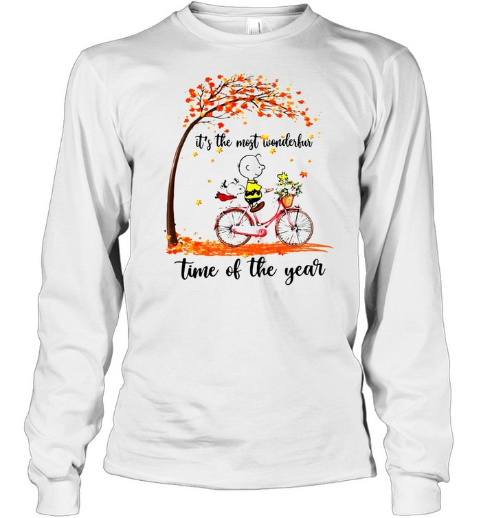 Snoopy And Peanuts It's The Most Wonderful Time Of The Year T-shirt Long Sleeved T-shirt