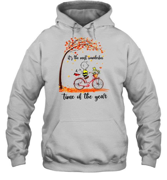 Snoopy And Peanuts It's The Most Wonderful Time Of The Year T-shirt Unisex Hoodie