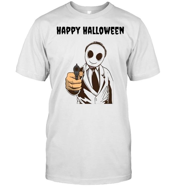 cary Modern Halloween Ghost Happy Halloween T-shirt